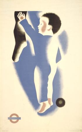 Poster; Christmas; boy, by Tom Eckersley and Eric Lombers, 1936