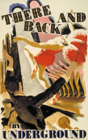 Poster; There and back, by Harold Sandys Williamson, 1928