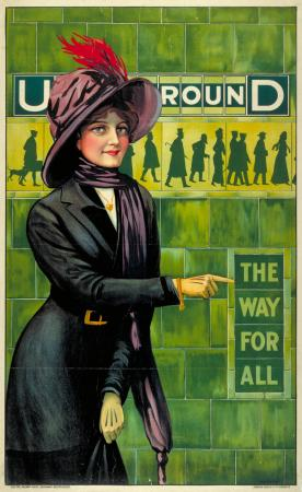 Poster; Underground - the way for all, by Alfred France, 1911