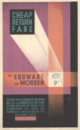 Related object: Poster; A Cheap return fare to Edgware or Morden, by Austin Cooper, 1929