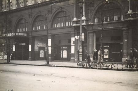 BW print; Holborn Underground station by Underground Group Photo Dept, May 1927