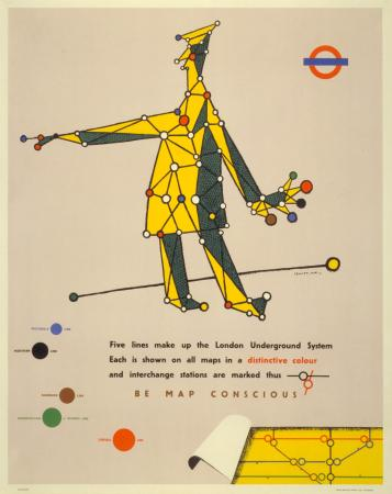 Poster; Be map-conscious, by Lewitt-Him, 1945