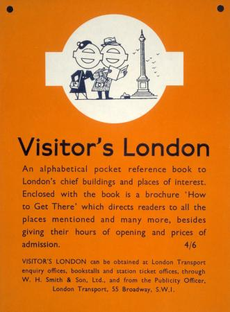 Poster; Visitors London, unknown, 1956