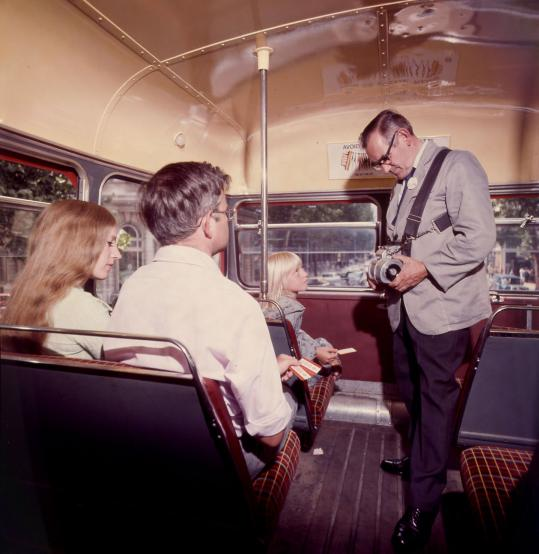 Related object: Colour transparency; RM-type bus interior, 1976