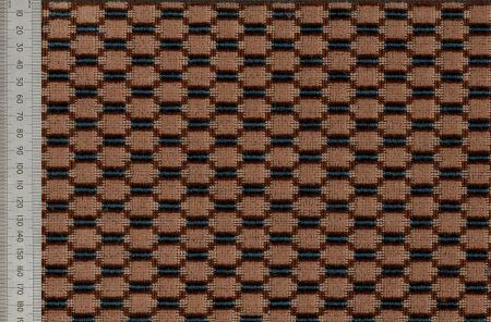 Moquette sample; Lozenge design, reproduction produced in 1990 of moquette originally used on 1920s-1930s trains, buses, trams and trolleybuses, 1990