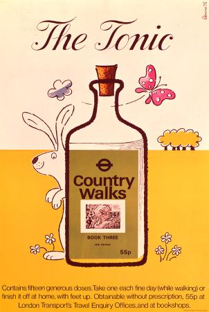 Poster; country walks;  the tonic, by harry stevens, 1974