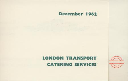 Leaflet; accompanying christmas hamper, issued by london transport catering, 1962