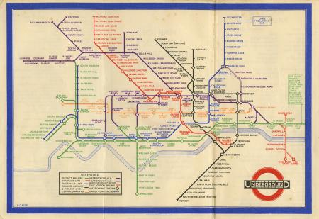 Related object: Map; Pocket Underground map, by Henry C Beck, 1933
