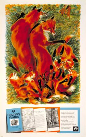 Poster; epping forest, by peter roberson, 1971