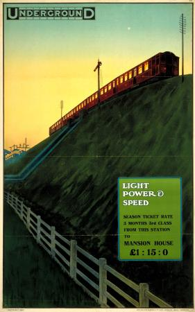 Poster; Light, power  speed, by Charles Sharland, 1910