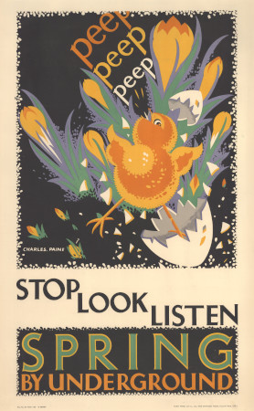 Poster; Stop, look, listen; spring, by Charles Paine, 1928