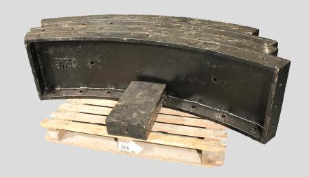 Tunnel lining; representative ring of 11ft 6in tunnel lining segments from london bridge station, 1888 - 1924
