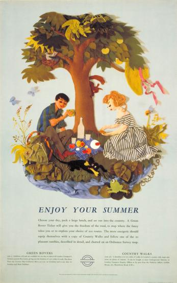 Poster; Enjoy your summer picnic, by Victoria Davidson, 1960