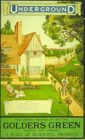 Poster; Golders Green, unknown, 1908