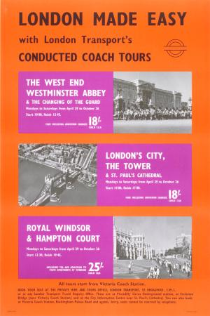 Poster; London made easy, unknown, 1968