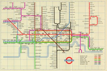Related object: Map; Pocket Underground map, by H C Beck, 1957