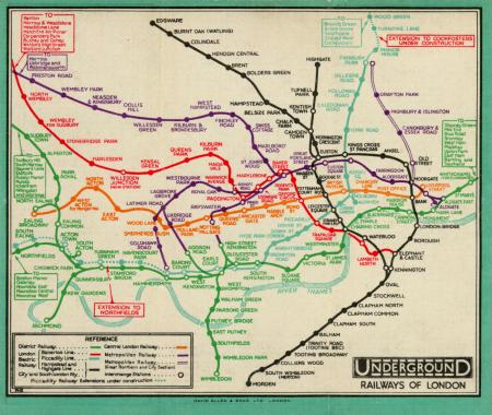 Map Of Londons Underground Railways