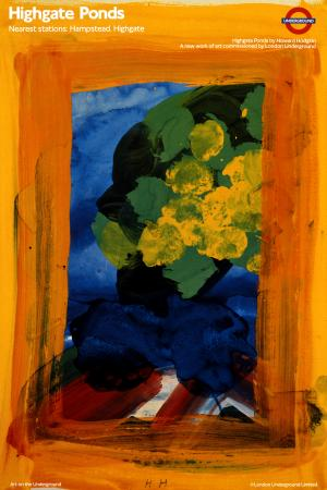 Poster; Highgate Ponds, by Howard Hodgkin, 1989