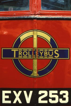 Related object: colour transparency, trolleybus roundel, 1980-1990