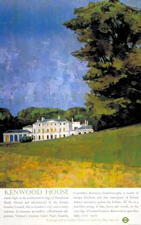 Poster; kenwood house, by robert flavell micklewright, 1975
