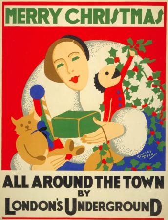 Poster; Merry Christmas, by Dudley Dyer, 1932