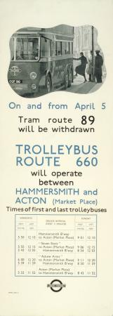 Related object: Poster; Trolleybus route 660, unknown, 1936