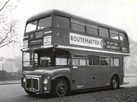Related object: B/W print; RM-type bus (RM2), registration number SLT57 by Dr Heinz Zinram, 20 Nov 1958