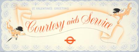Poster; St Valentines greetings; courtesy aids service, by the agency Gordon Lawrence Studio, 1947