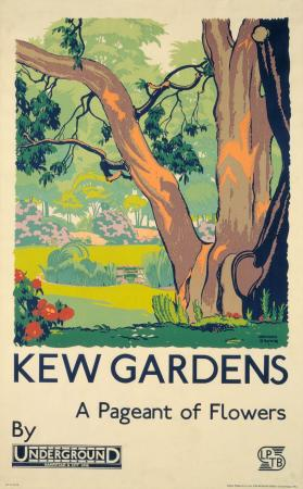 Poster; Kew Gardens, by F Gregory Brown, 1933