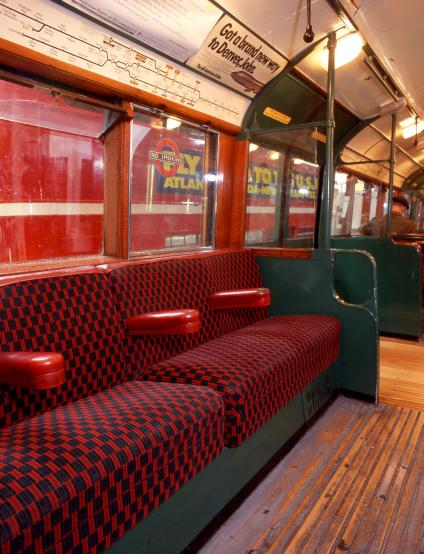 Colour transparency, interior of 1938 tube stock driving motor car no by hugh robertson, 7 march 2001