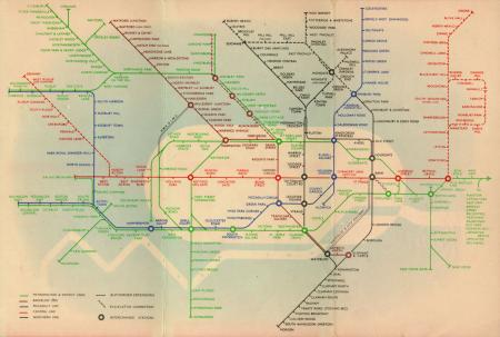 Related object: Map; Pocket Underground Railway Map No 2, by Hans Schleger, 1938