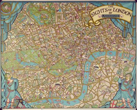 London Map With Sights.Posters