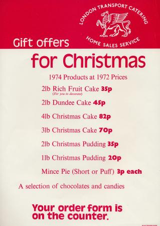 Poster; gift offers for christmas, unknown 1974