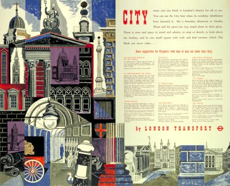 Pair poster; city, by edward bawden, 1952