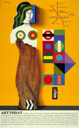Related object: Poster; Art today, by Hans Unger, 1966