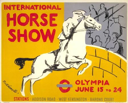 Poster; International Horse Show, by Rathmell, 1939