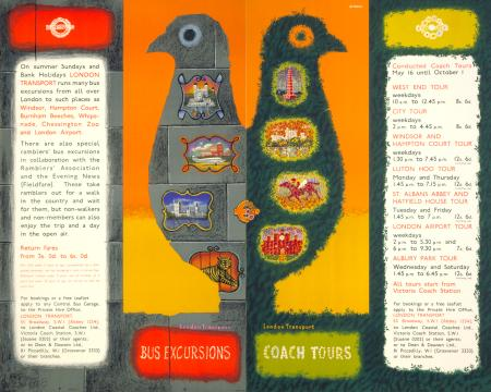 Pair poster; tours and excursions, by abram games, 1955