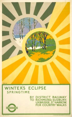 Poster; Winters eclipse; springtime, by Albert E Fruin, 1922
