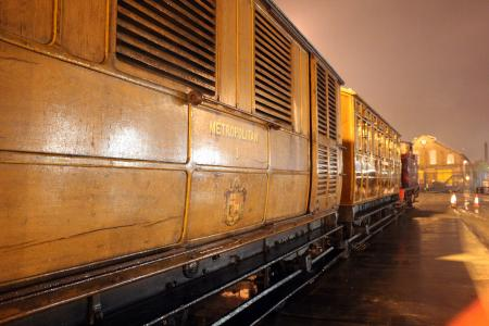 Digital image; metropolitan railway carriage no 353 and metropolitan railway milk van no 3, ltm acton, tim shields, 2012
