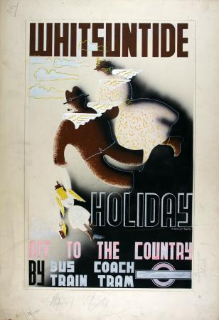 Related object: Poster artwork; Whitsuntide, by Edward McKnight Kauffer, 1933