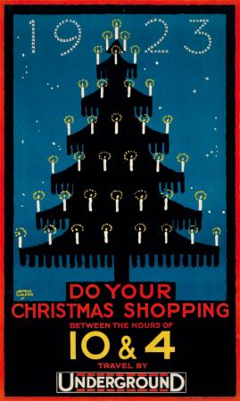 Poster; Do your Christmas shopping, by Austin Cooper, 1923