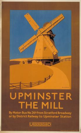 Poster; Upminster; the mill, by M A Carter, 1924