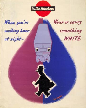 Poster; Wear or carry something white, by Bruce Angrave, 1942
