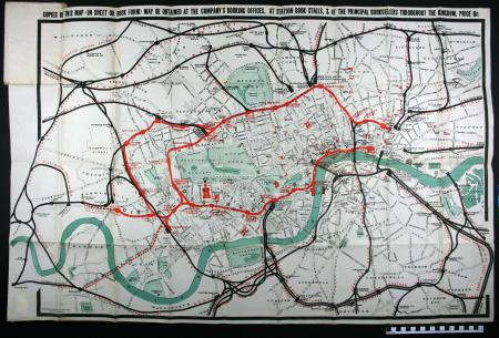 The District Railway Map Of London