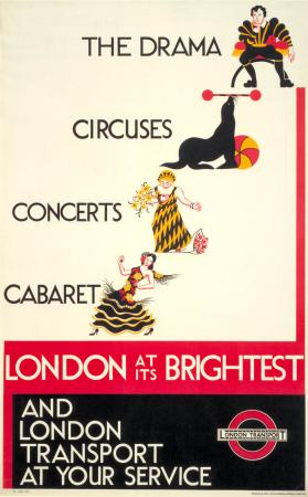 Poster; London at its brightest, unknown, 1934