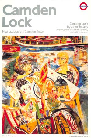 Poster; Camden Lock, by John Bellany, 1990