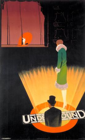 Poster; Underground; theatres, by Verney L Danvers, 1926