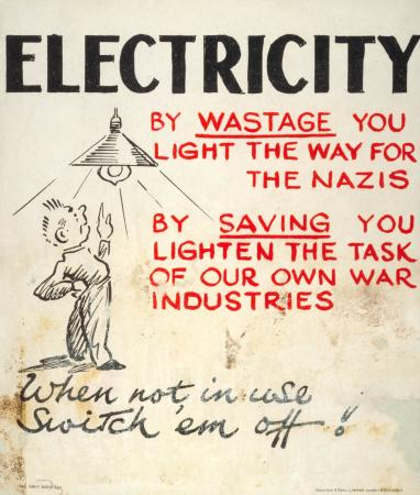 Poster; Electricity, unknown, 1942