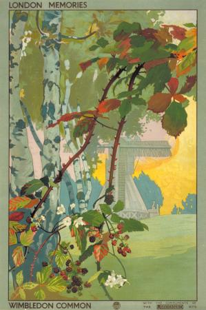 Poster; London memories; Wimbledon Common, by Emilio Camilio Leopoldo Tafani, 1918