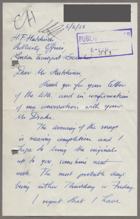Related object: Letter; from John Fleming to Harold Hutchison, 5 Feb 1953